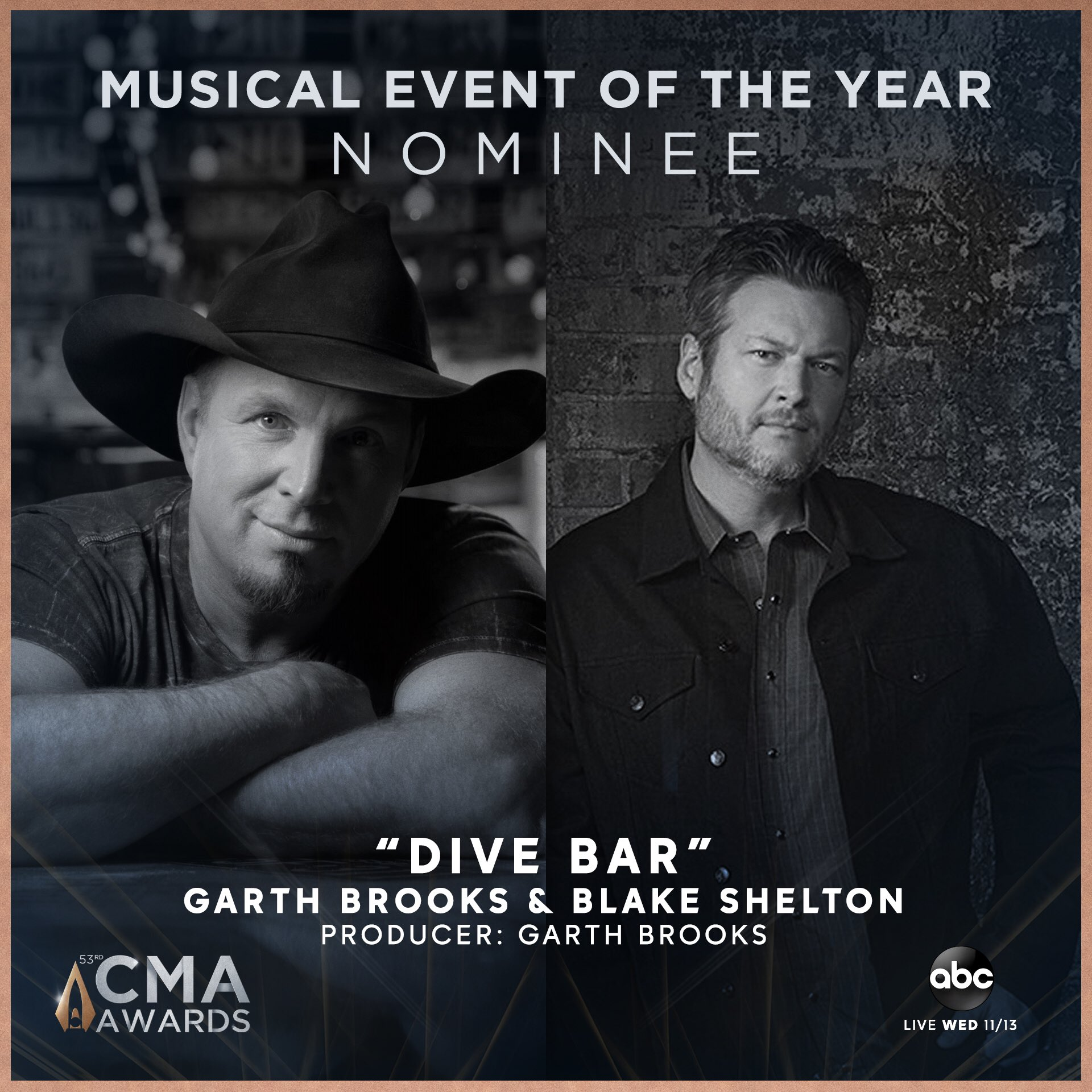 Garth Brooks nominated for CMA music event of the year